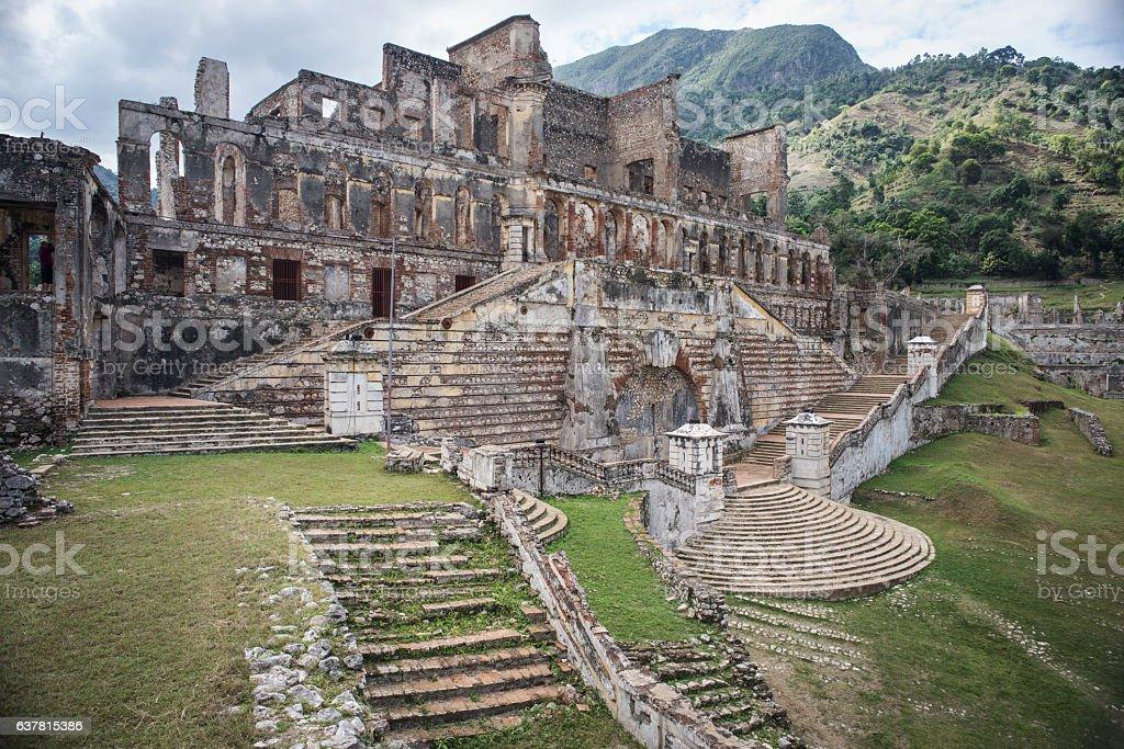 Sans-Souci Palace in Haiti stock photo
