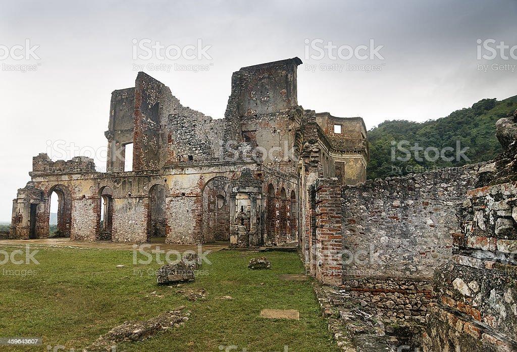 Sans-Souci Ruins, Haiti stock photo