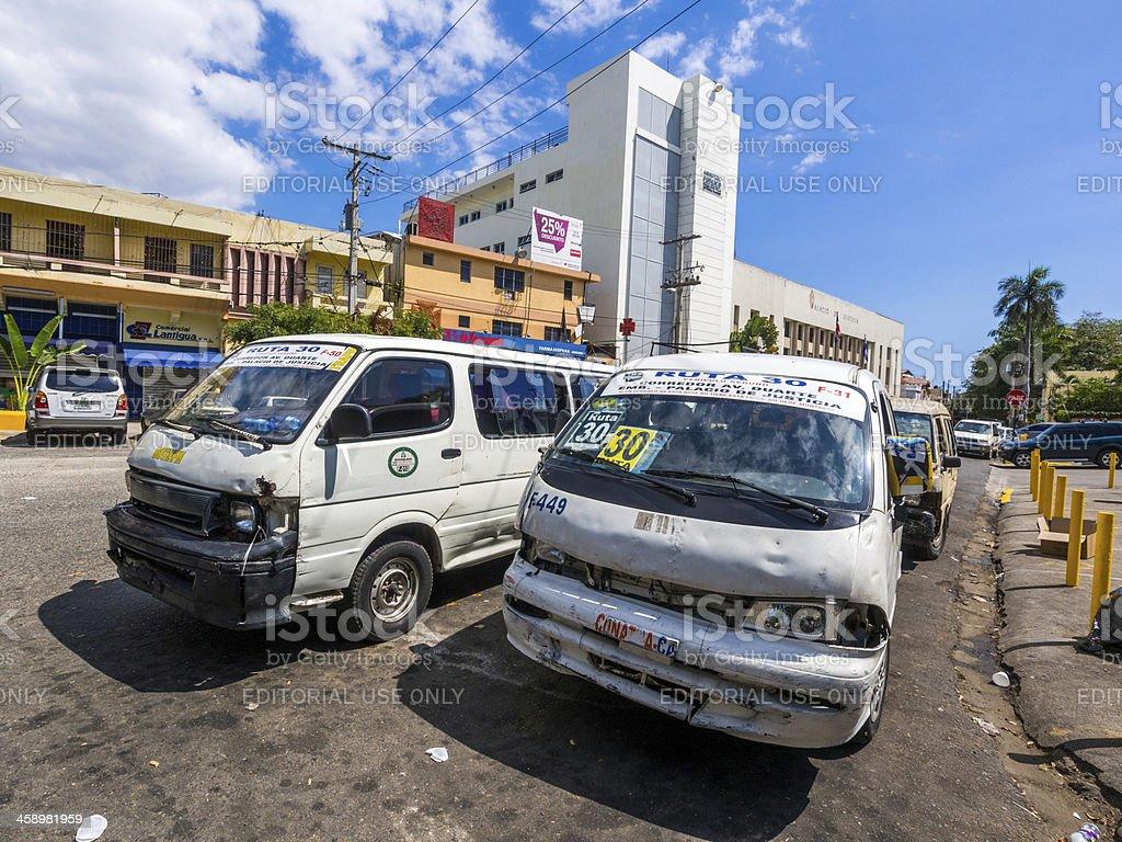 Sant Domingo Public Transport, Dominican Republic royalty-free stock photo