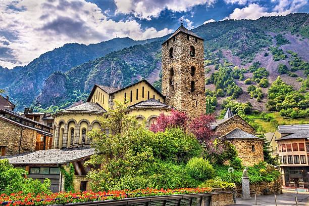 Royalty free andorra la vella pictures images and stock photos sant esteve church in andorra la vella andorra stock photo sciox Choice Image
