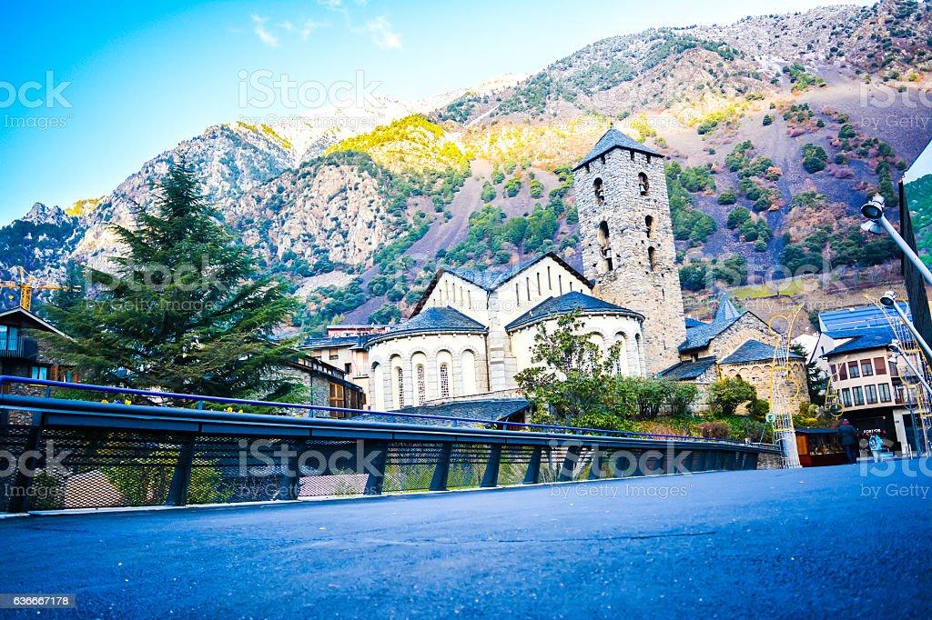 Igreja de Sant Esteve em Andorra la Vella, Andorra - foto de acervo