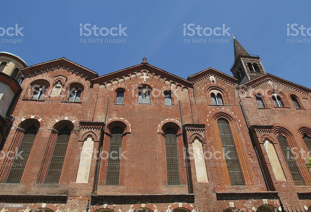 Sant Eustorgio church, Milan royalty-free stock photo