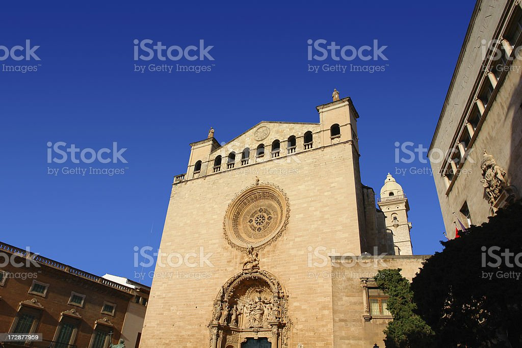 Sant Francesc at Palma de Mallorca / Majorca with Sandial royalty-free stock photo