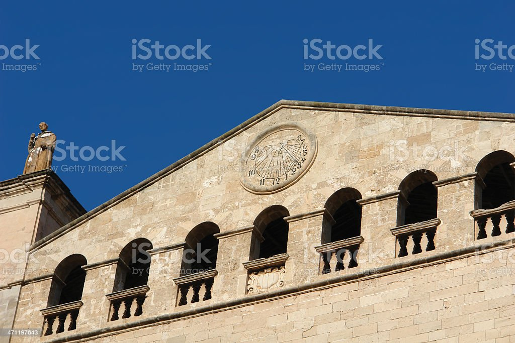 Sant Francesc at Palma de Mallorca / Majorca with Sundial royalty-free stock photo