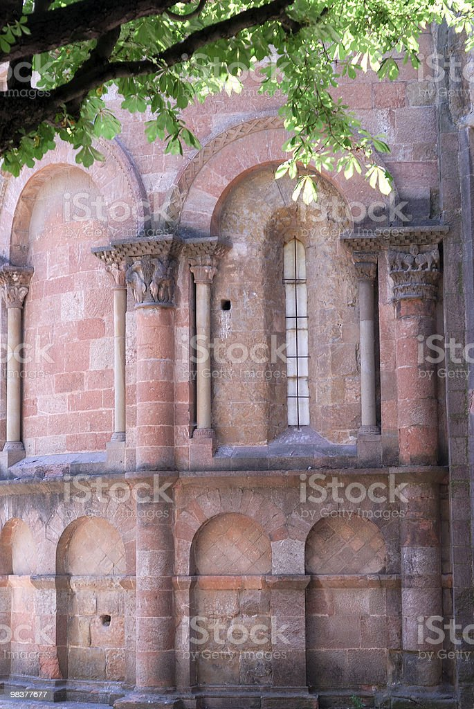 Sant Joan de les Abadesses (Catalonia, Spain): abbey, church apse royalty-free stock photo