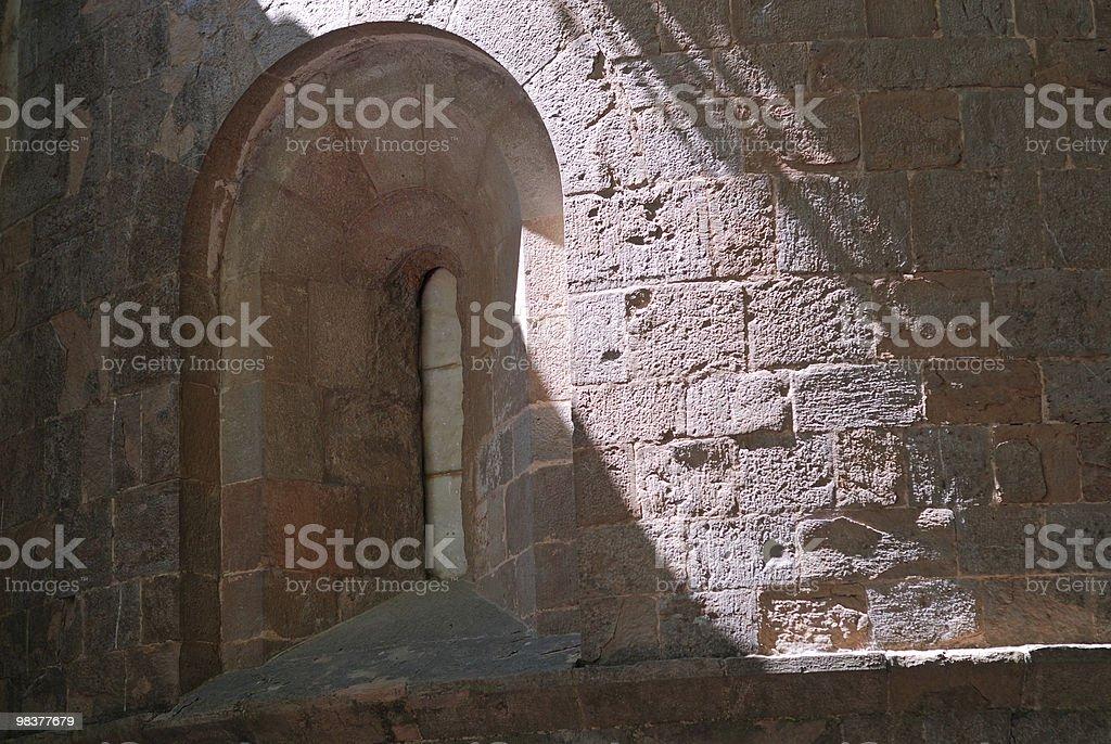 Sant Joan de les Abadesses (Catalonia, Spain): abbey, church apse royalty-free stock photo