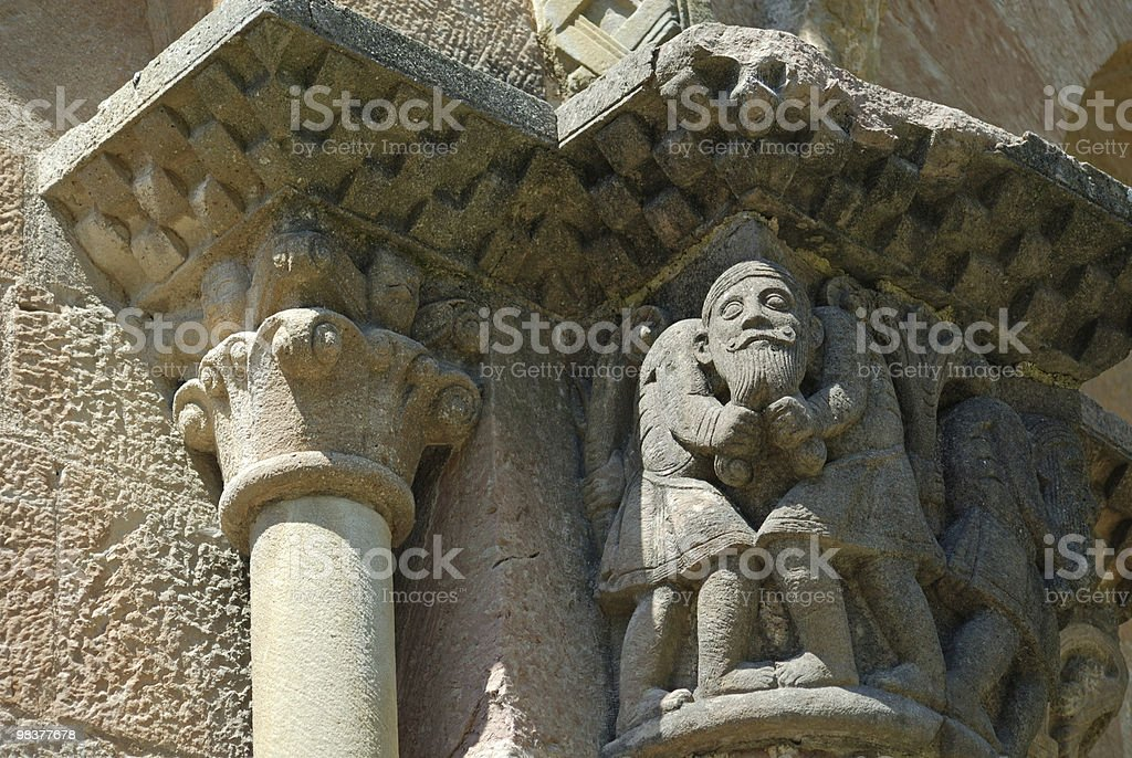 Sant Joan de les Abadesses (Catalonia, Spain): abbey, detail royalty-free stock photo