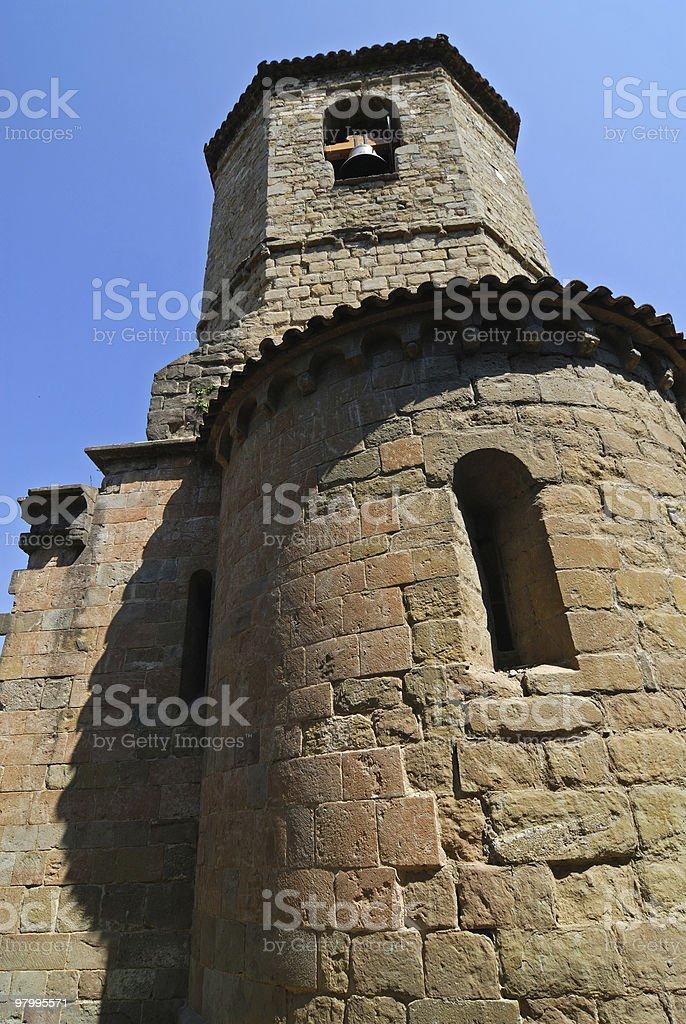 Sant Joan de les Abadesses (Catalonia, Spain): church apse royalty free stockfoto