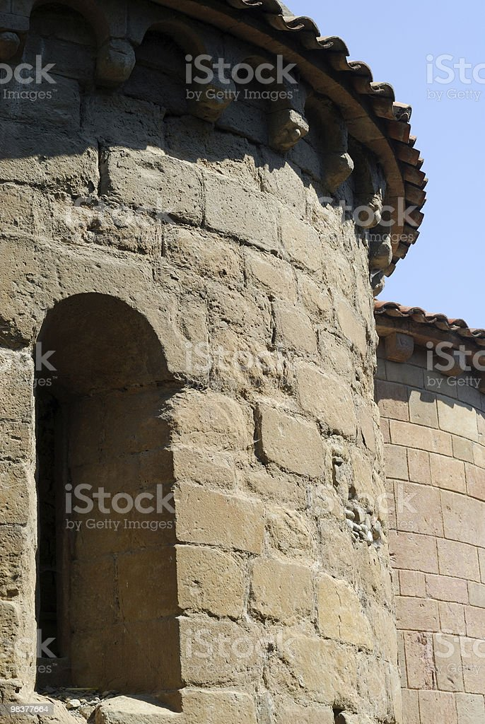 Sant Joan de les Abadesses (Catalonia, Spain): church apse royalty-free stock photo