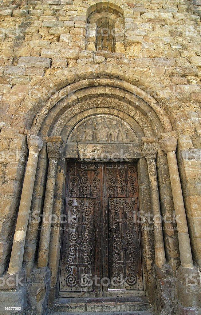 Sant Joan de les Abadesses (Catalonia, Spain): church ruins royalty-free stock photo