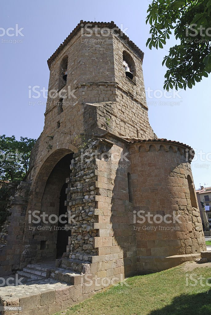 Sant Joan de les Abadesses (Catalonia, Spain): ruins royalty-free stock photo