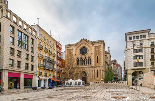 sant joan square, lleida, spain - lleida zdjęcia i obrazy z banku zdjęć