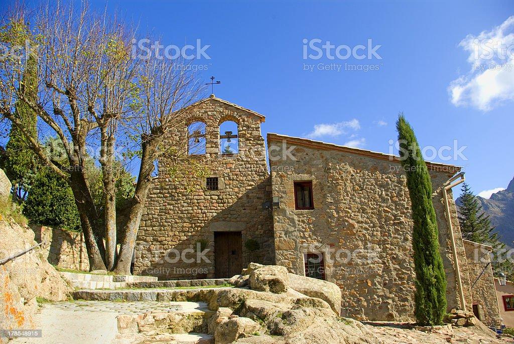 Sant mascal monastery.Montseny.Catalonia.Spain stock photo
