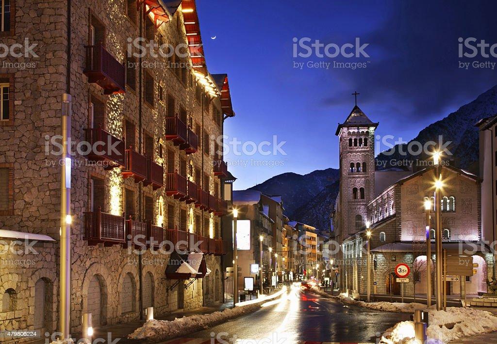 Igreja de Sant Pere Martir em Andorra la Vella. TM - foto de acervo