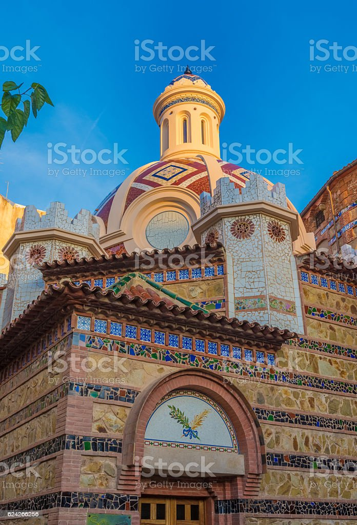 Sant Roma Church, Lloret de Mar, Costa Brava, Catalonia, Spain stock photo