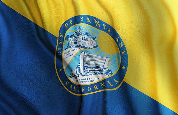 Santa Ana City Flag State of California stock photo