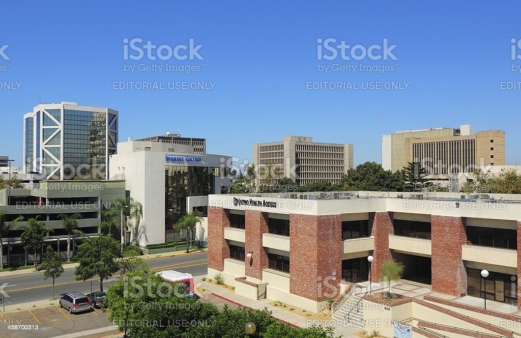 Santa Ana downtown skyline stock photo