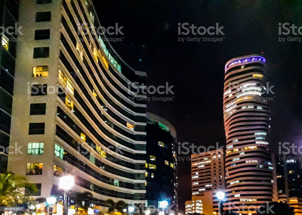 Santa Ana Port Night Scene, Guayaquil, Ecuador - Royalty-free Architecture Stock Photo