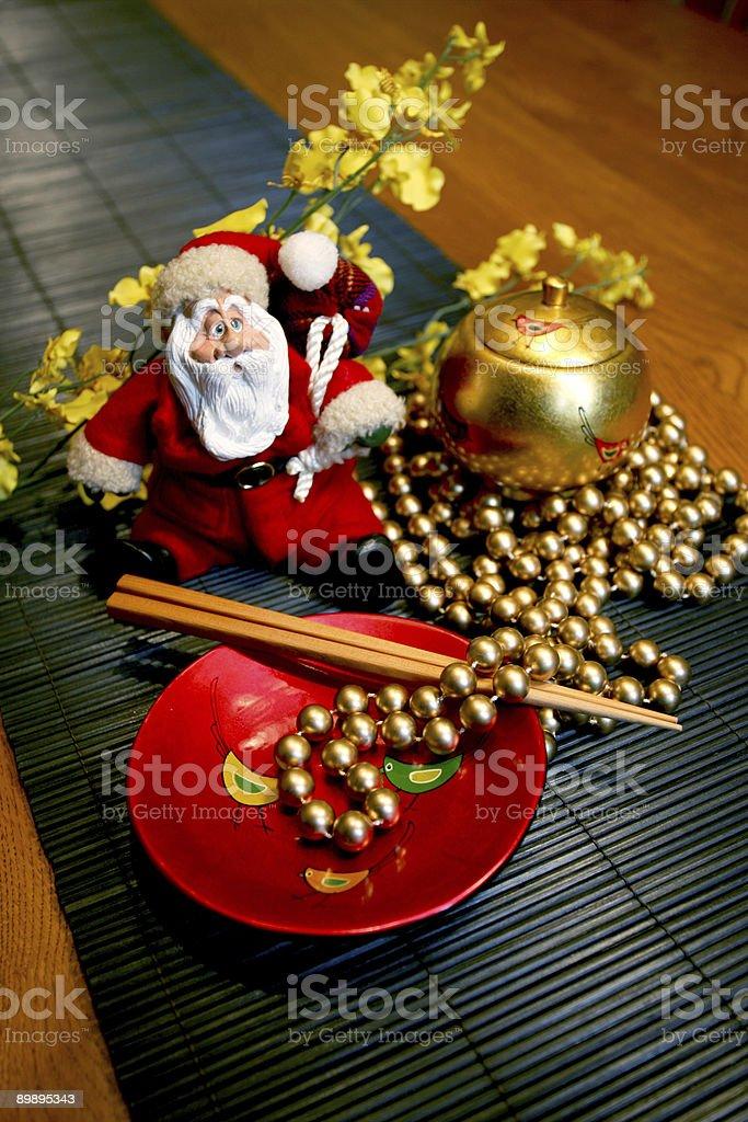 Santa y perlas foto de stock libre de derechos