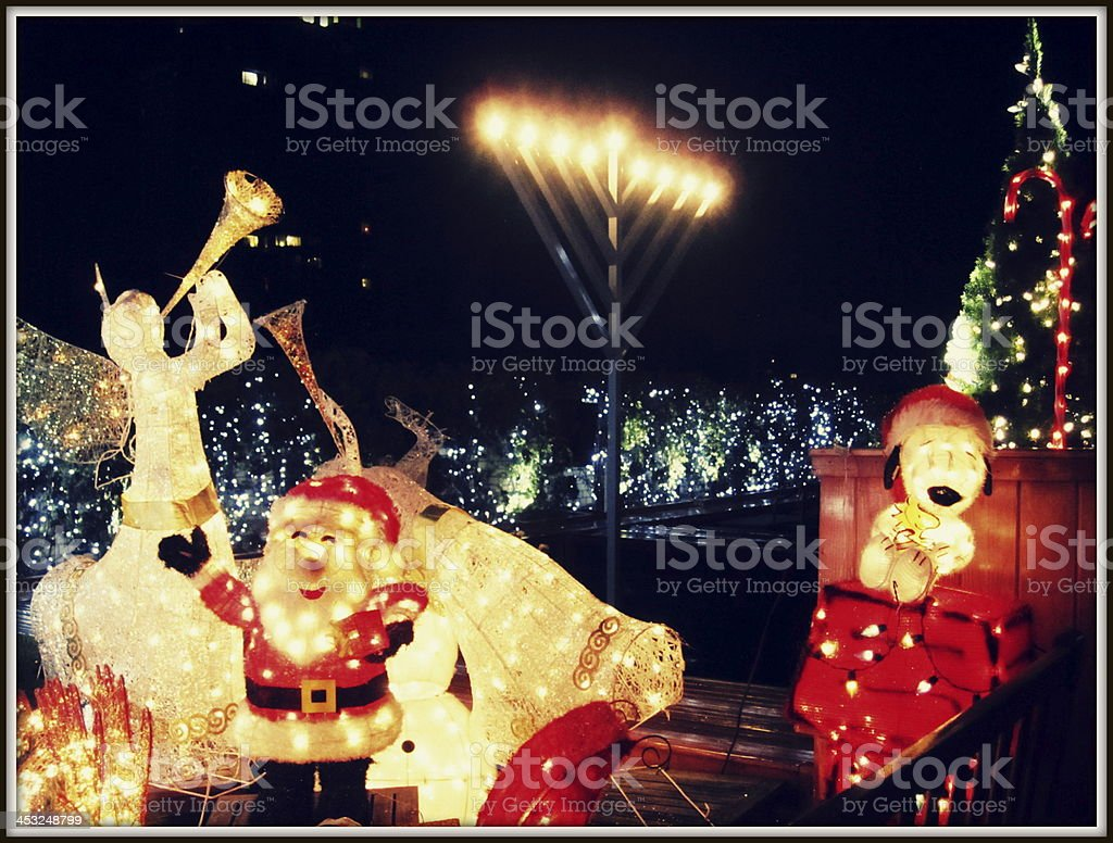 Santa and Friends stock photo
