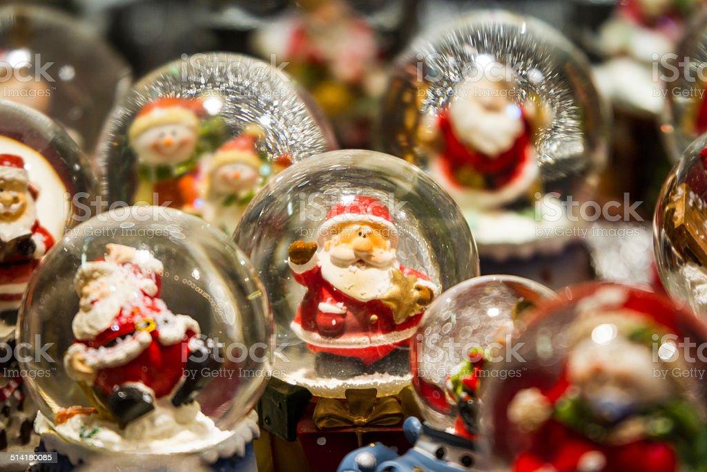 Santa and his friends stock photo