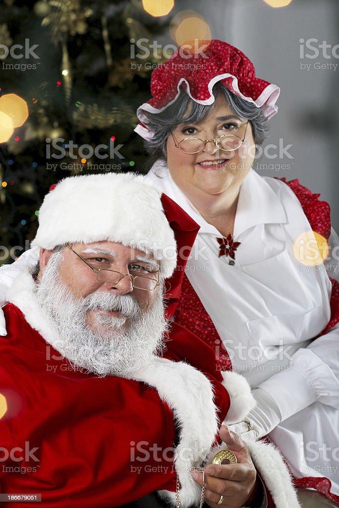 Santa Claus Mrs Claus Portrait Chair Pictures Images And Stock Photos