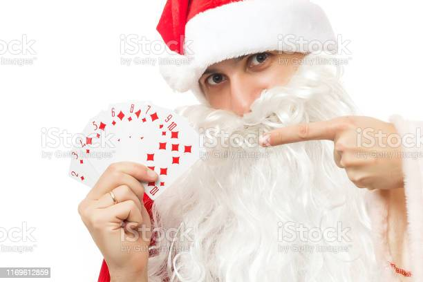 Santa and playing cards poker picture id1169612859?b=1&k=6&m=1169612859&s=612x612&h=j7net0yjtutmbbts3evpkigk3is8l03cqq88lsn11fm=