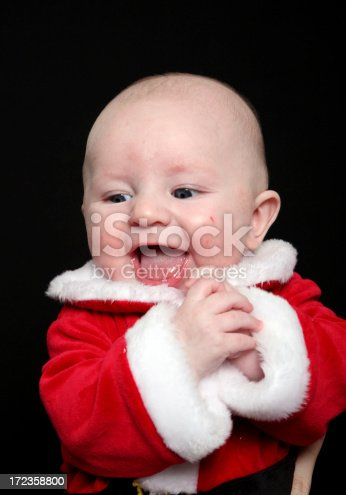Santa Baby Stock Photo & More Pictures of 2-5 Months