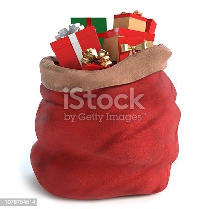 istock Santa Bag 1076754514