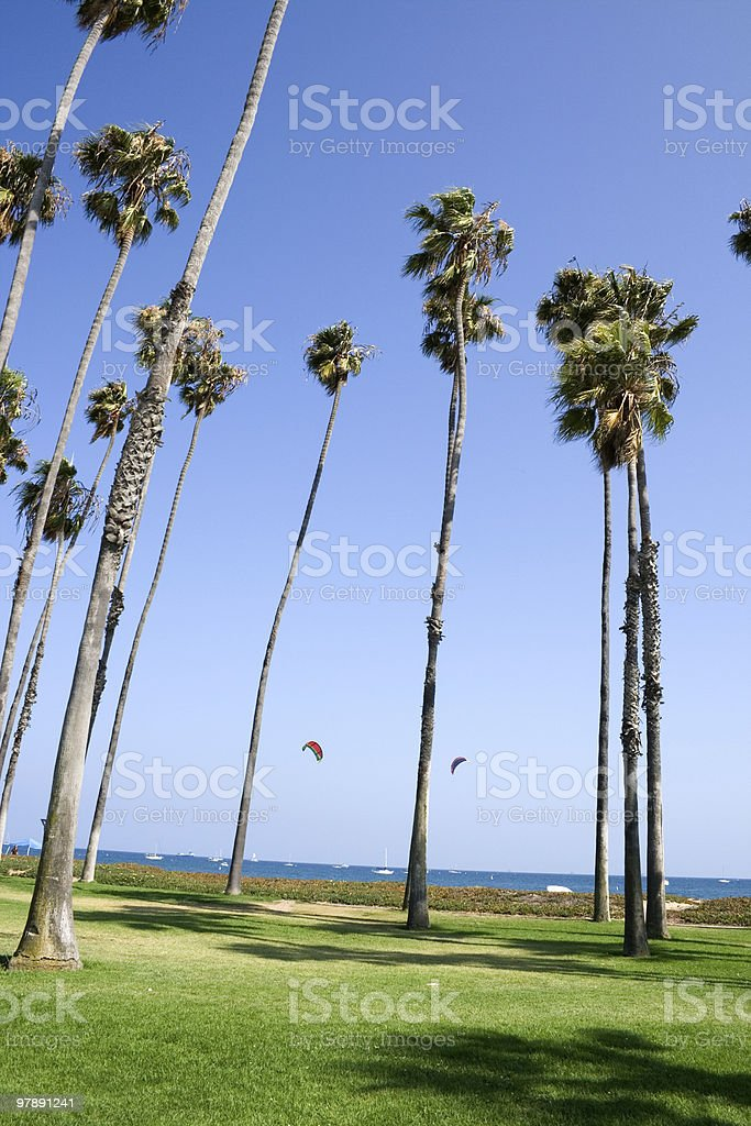 Santa Barbara Beach royalty-free stock photo