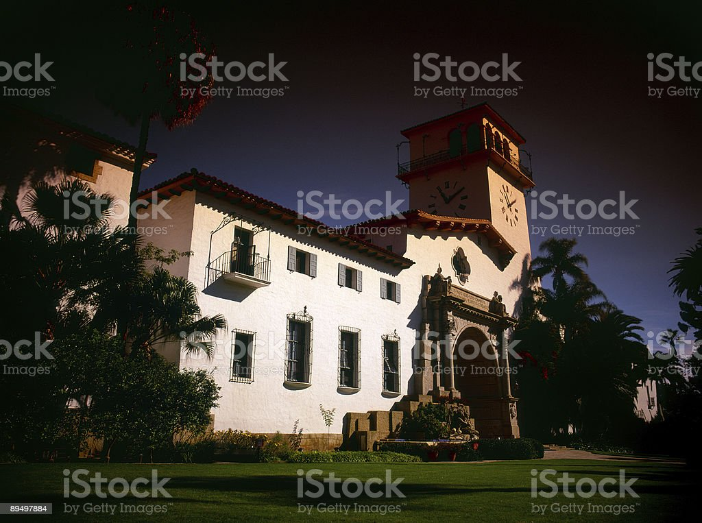 Santa Barbara Courthouse, Kalifornia zbiór zdjęć royalty-free