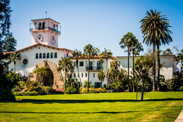 Santa Barbara Courthouse Old courthouse in Santa Barbara, California santa barbara california stock pictures, royalty-free photos & images