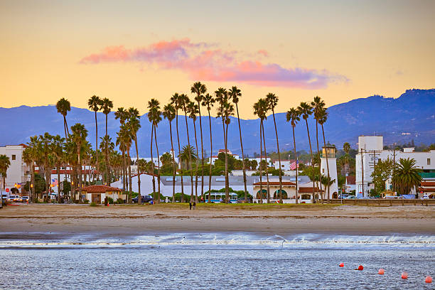 Santa Barbara from the pier View on Santa Barbara from the pier santa barbara california stock pictures, royalty-free photos & images
