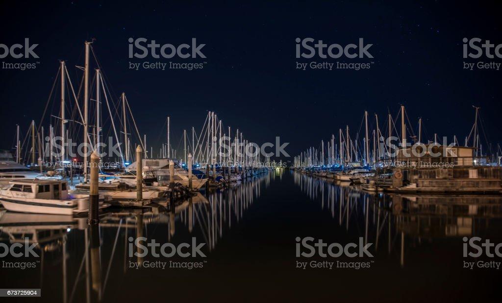 Santa Barbara Harbor photo libre de droits