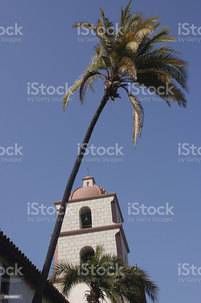 Santa Barbara Mission royalty-free stock photo