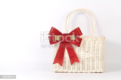 istock Santa basket 495288224