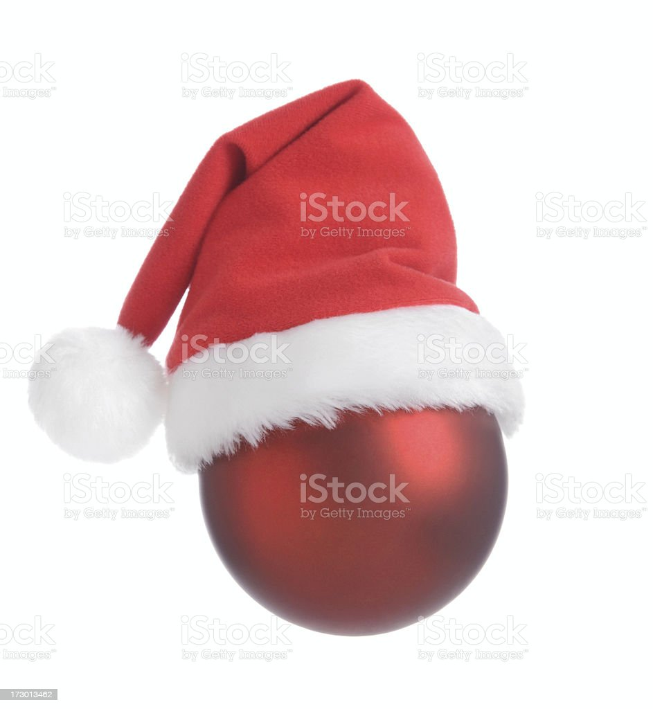 Santa Bauble stock photo