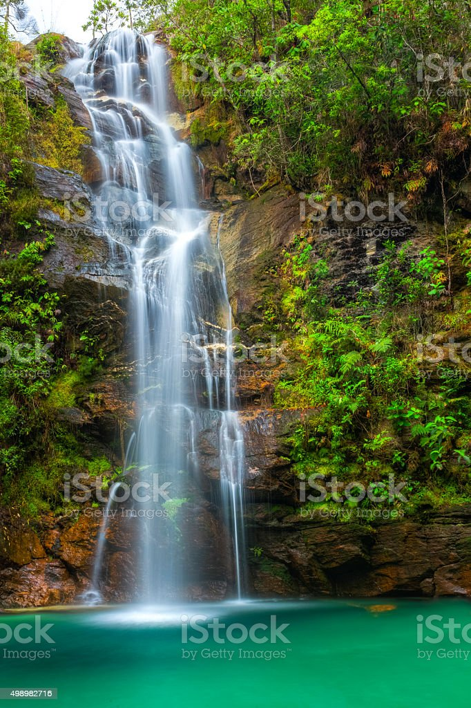 Santa Bárbara waterfall stock photo
