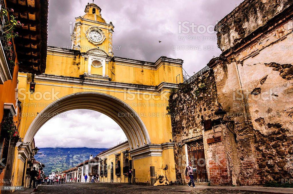 Santa Catalina Arch, Antigua, Guatemala stock photo