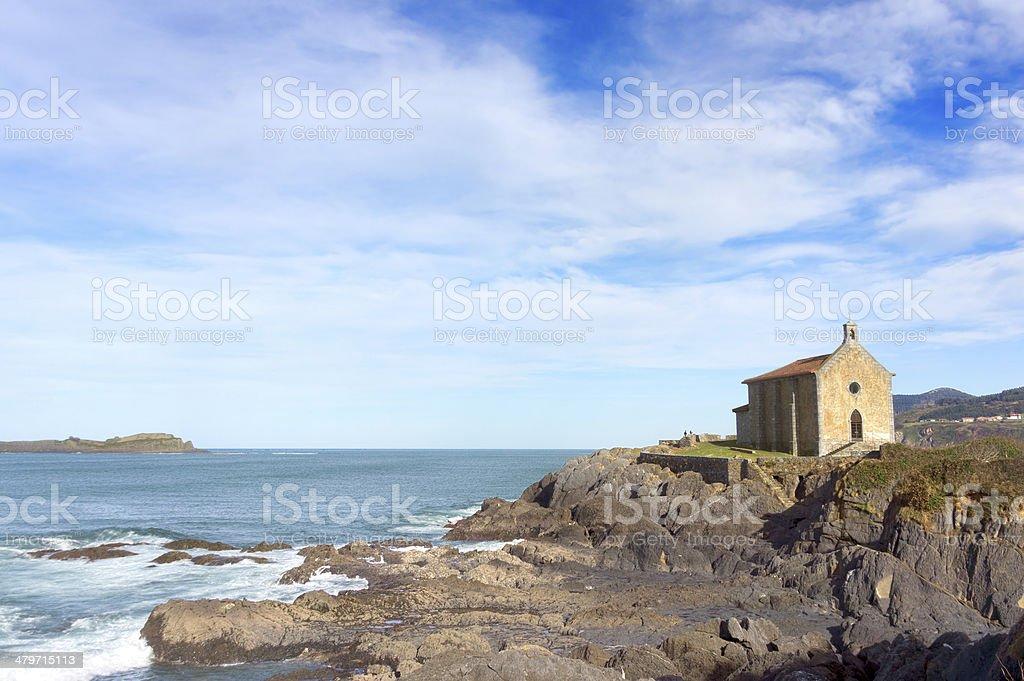 Santa Catalina hermitage in Mudaka. Basque Country stock photo