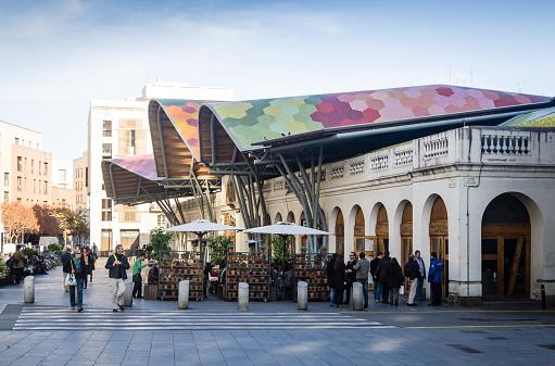 Santa Caterina market in Barcelona, Spain