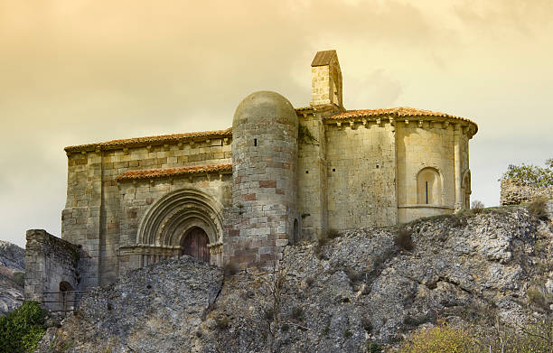 Santa Cecilia de Vallespinoso  romanesque stock pictures, royalty-free photos & images