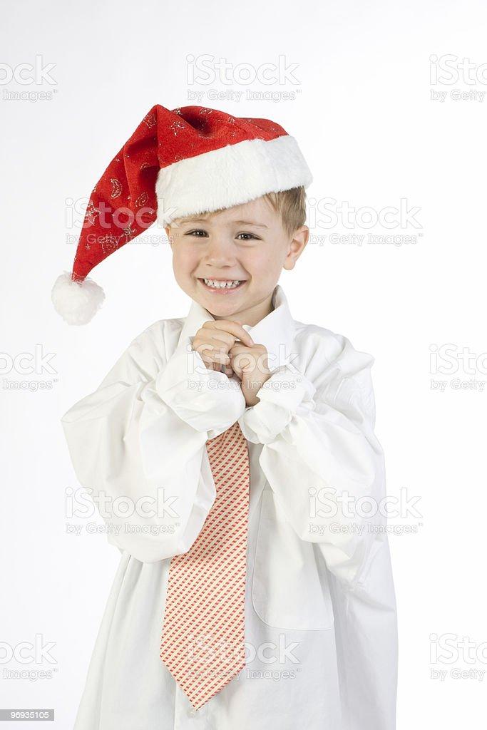 Santa child royalty-free stock photo