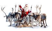 サンタクロースと彼の鹿