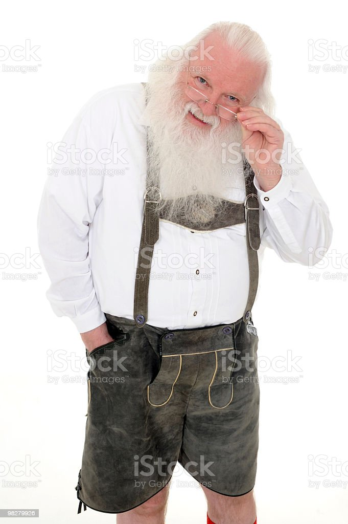 Santa Claus at Home Looking toward the Camera royalty-free stock photo