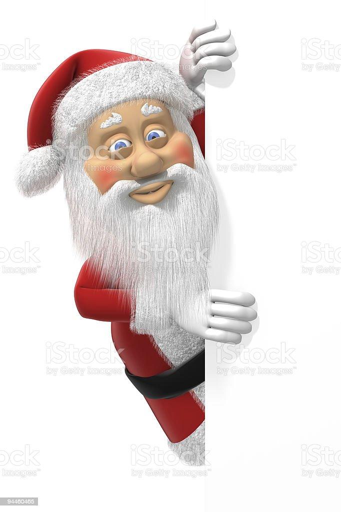 Santa Claus at Page Edge royalty-free stock photo