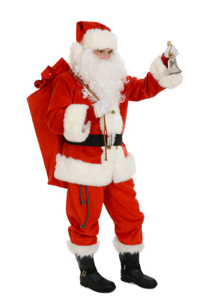Santa Claus carry sack full of presents on his back – zdjęcie