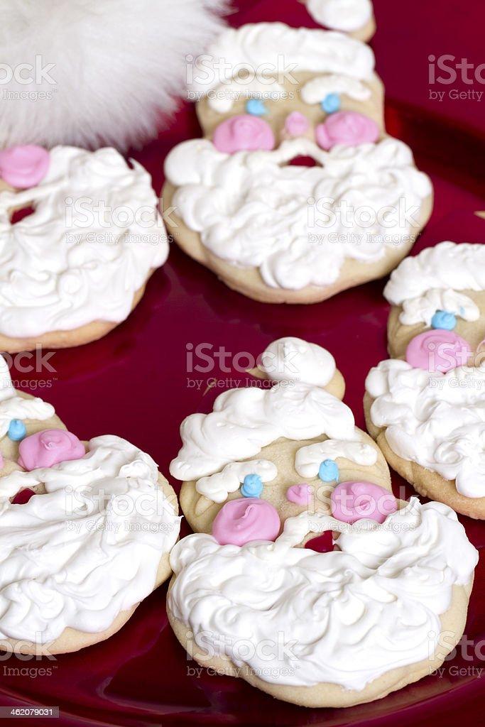 Santa Claus Christmas Cookie stock photo