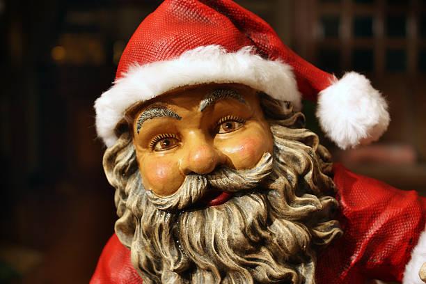 Santa Claus close up stock photo
