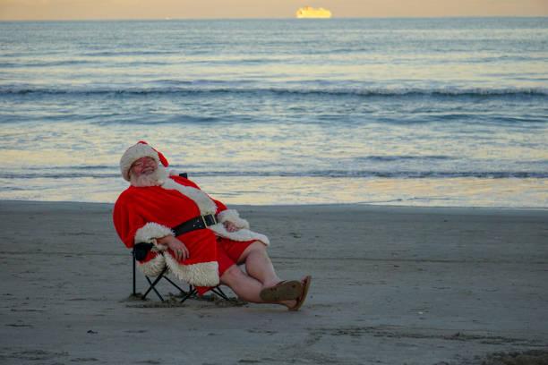 Santa Claus Cocoa Beach stock photo